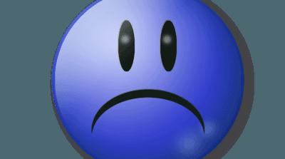 憂鬱な表情