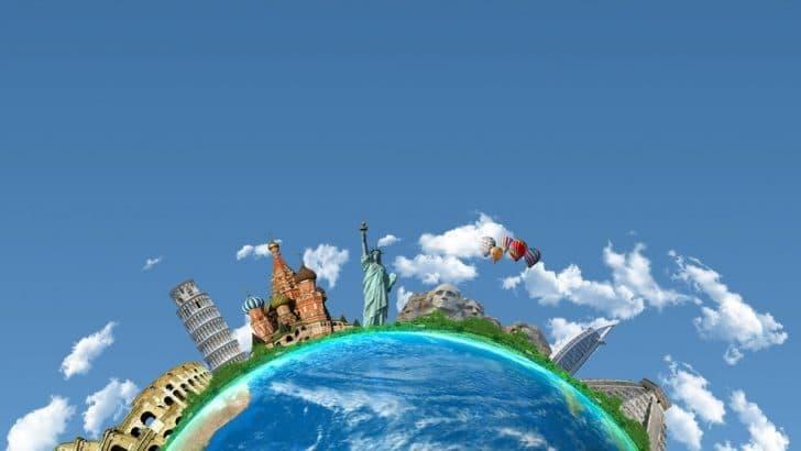 地球を旅行