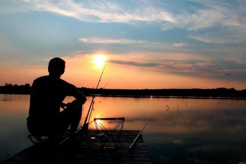 1人で釣り