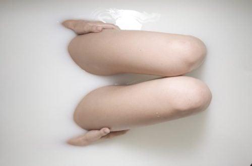 乳白色の入浴剤
