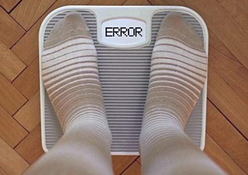 体重計のエラーメッセージ