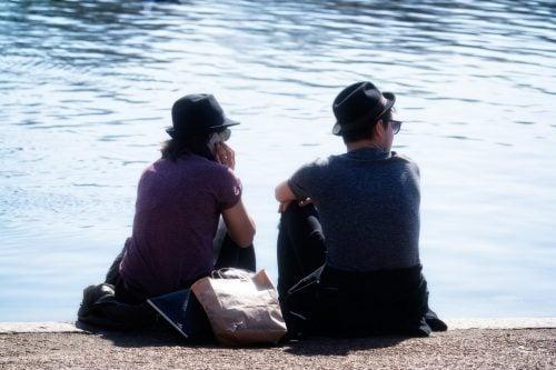 帽子が同じカップル