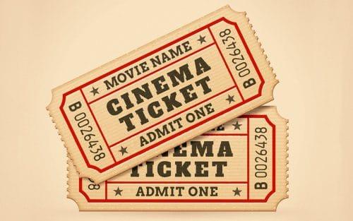 映画のペアチケット