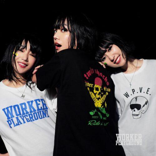 wokerplaygroundのtシャツ